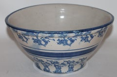 Sponge Ware  Pottery Bowl, 19thc