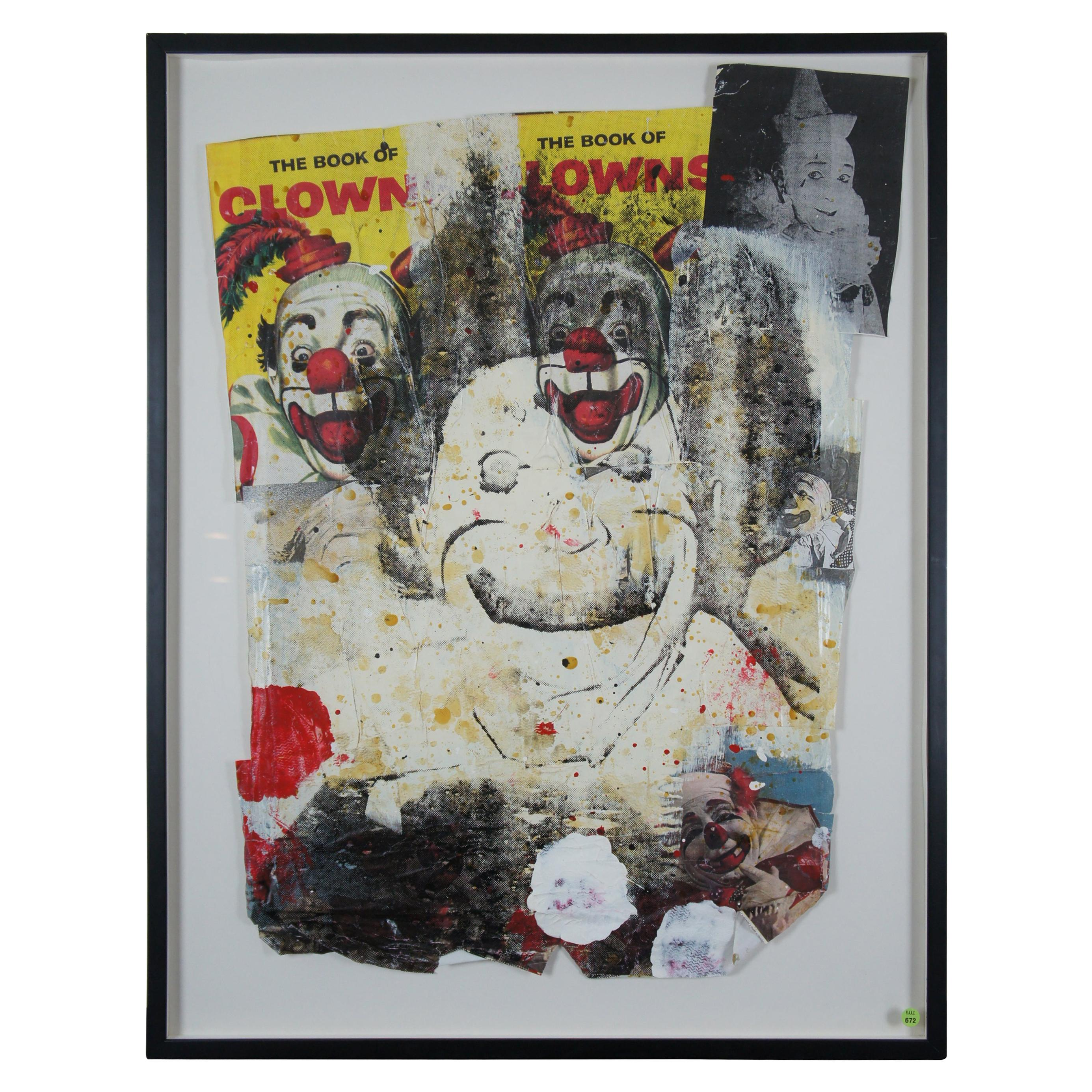 """""""Spook Clown Circus Life!"""" by Ford Beckman 1993 Mixed-Media Abstract Modernist"""