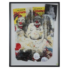 """Spook Clown Circus Life!"" by Ford Beckman 1993 Mixed-Media Abstract Modernist"