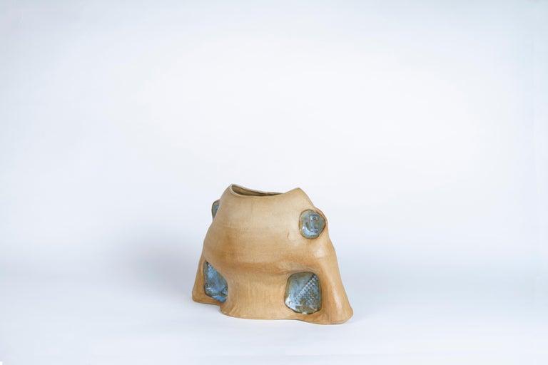 Modern Spool Vase by Faissal El-Malak For Sale