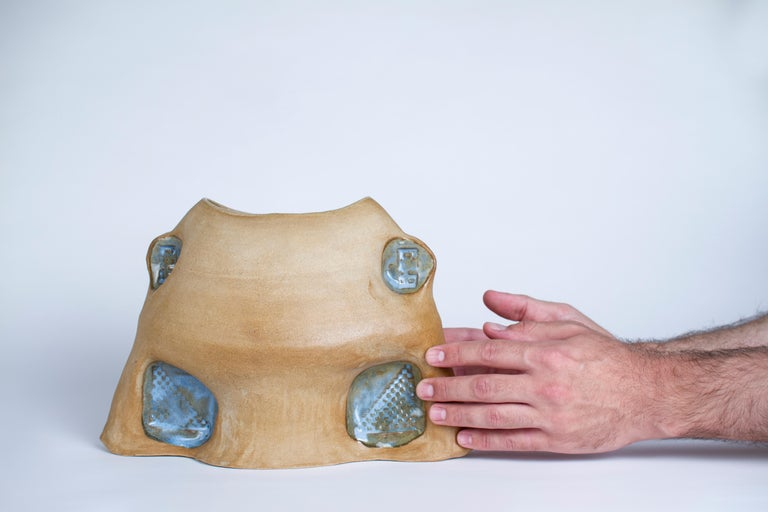 Contemporary Spool Vase by Faissal El-Malak For Sale