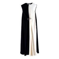 Sportmax Black and White Gathered Hook Dress estimated size XS