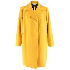 Sportmax Yellow Wool & Cashmere Zarda Coat 16 GB
