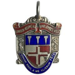 Sports Enamel or Silver Vintage Medal Pendant