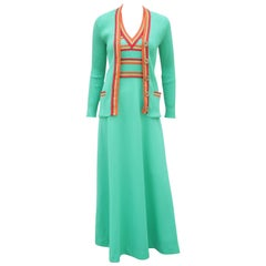 Sporty Giamo Knits Maxi Dress & Cardigan, 1970's