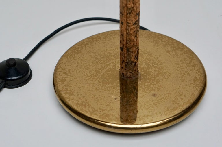 Spotlight Floor Lamp in Brass and Cork For Sale 2