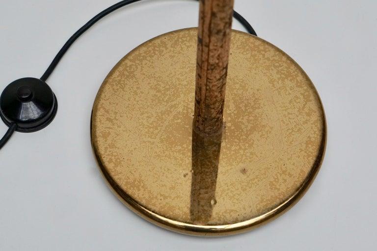 Spotlight Floor Lamp in Brass and Cork For Sale 3