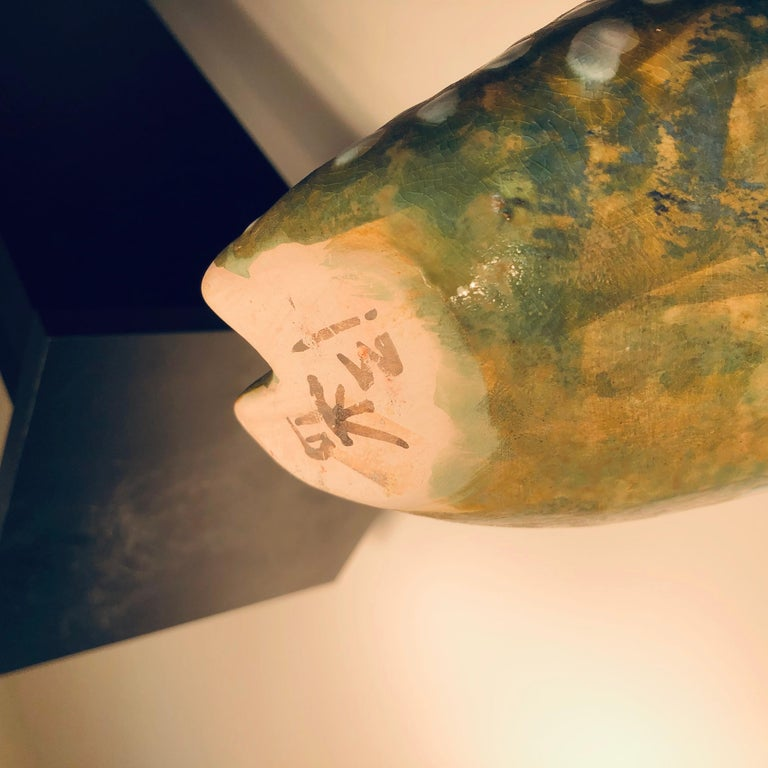 Spotted Owl Tall Master Work Sculpture Hand-Painted by Eva Fritz-Lindner For Sale 9