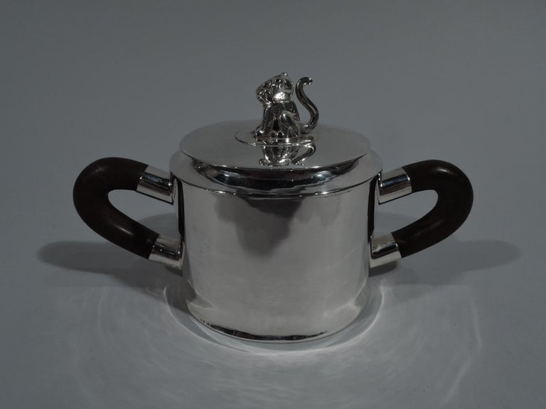Spratling Sterling Silver Coffee and Tea Set with Jaguar Finials For Sale 4