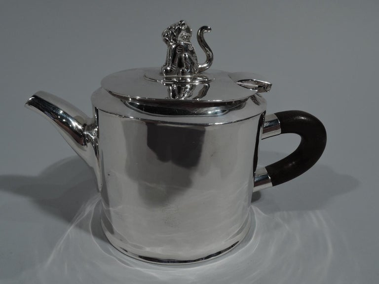 Spratling Sterling Silver Coffee and Tea Set with Jaguar Finials For Sale 3