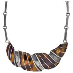 "Spratling Vintage Tortoise Shell ""Collar Gola"" or ""Ruff Croissant"" Necklace"