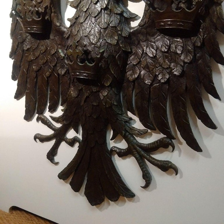 British 'Spread Eagle' Bronze Wall Relief, Barclays Bank For Sale