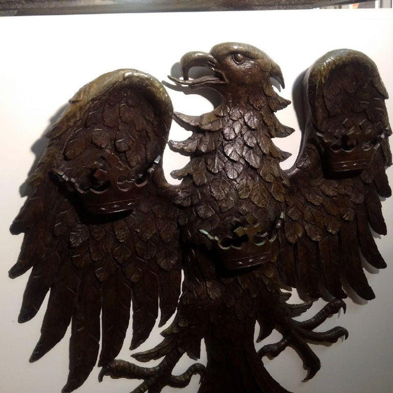 Patinated 'Spread Eagle' Bronze Wall Relief, Barclays Bank For Sale