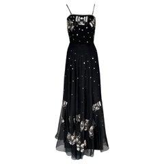 Spring 1974 Chloe by Karl Lagerfeld Sequin Dress Set as Seen on Sylvie Vartan