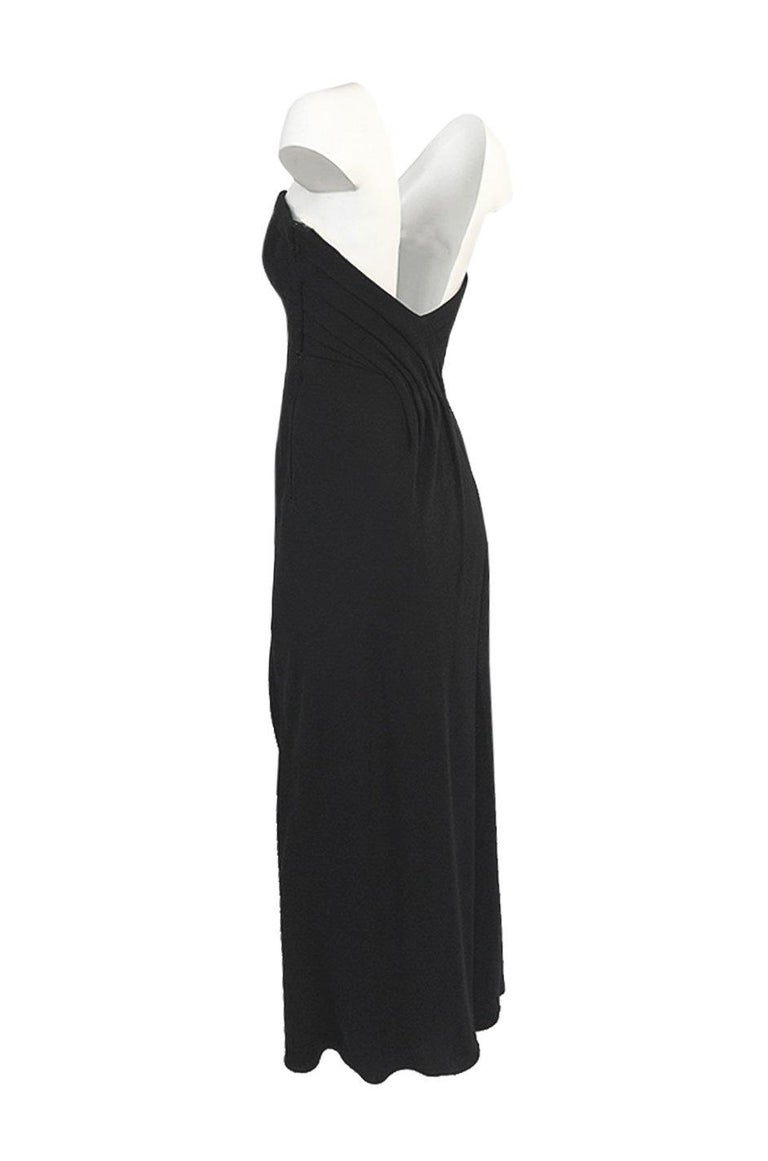 Women's Spring 1998 Valentino Haute Couture Strapless Dress w Beaded & Sequin Inner Skir For Sale