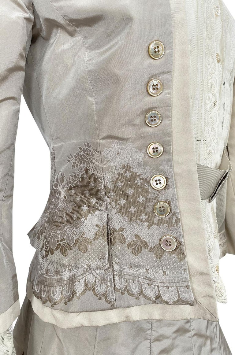 Spring 2005 Alexander McQueen 'It's Only a Game' Runway Skirt & Jacket Set For Sale 5