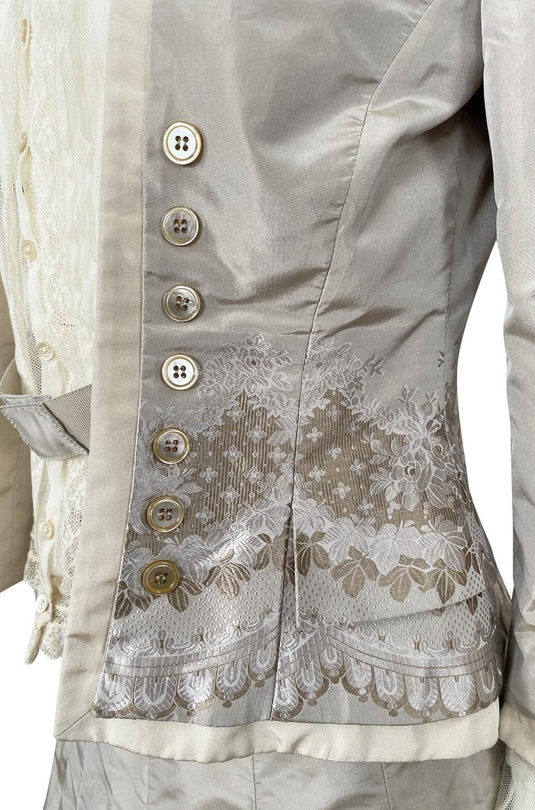 Spring 2005 Alexander McQueen 'It's Only a Game' Runway Skirt & Jacket Set For Sale 6