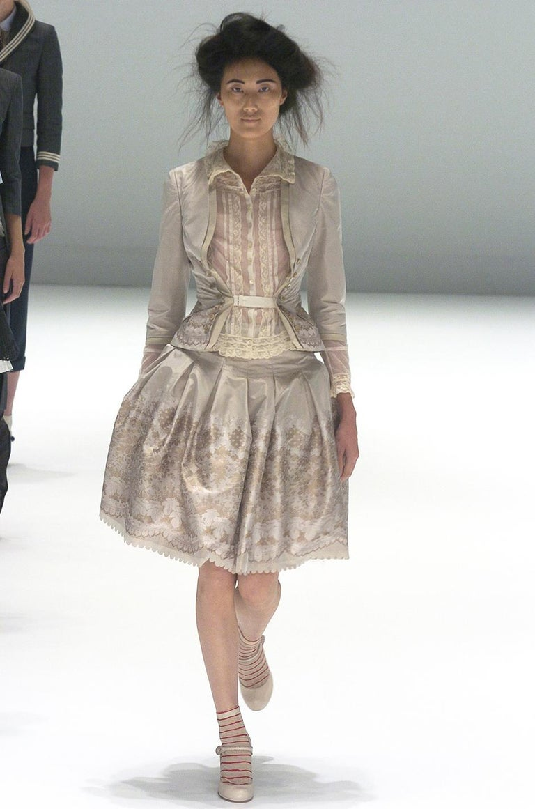 Spring 2005 Alexander McQueen 'It's Only a Game' Runway Skirt & Jacket Set For Sale 10