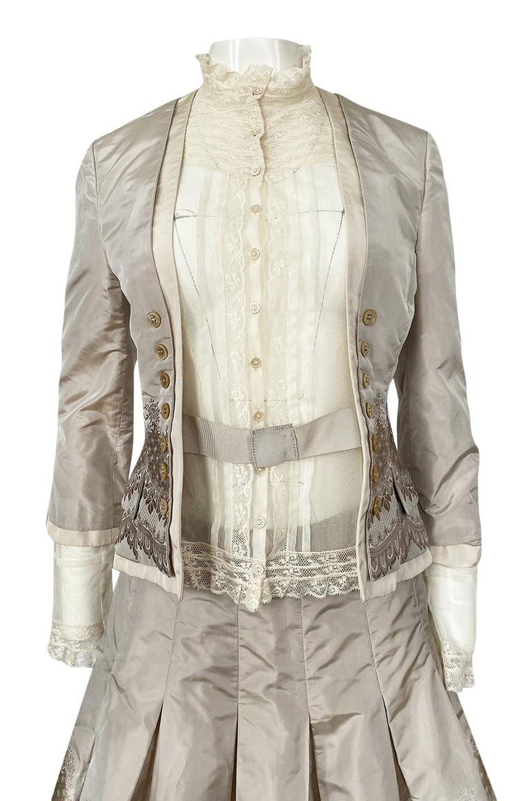 Spring 2005 Alexander McQueen 'It's Only a Game' Runway Skirt & Jacket Set For Sale 2