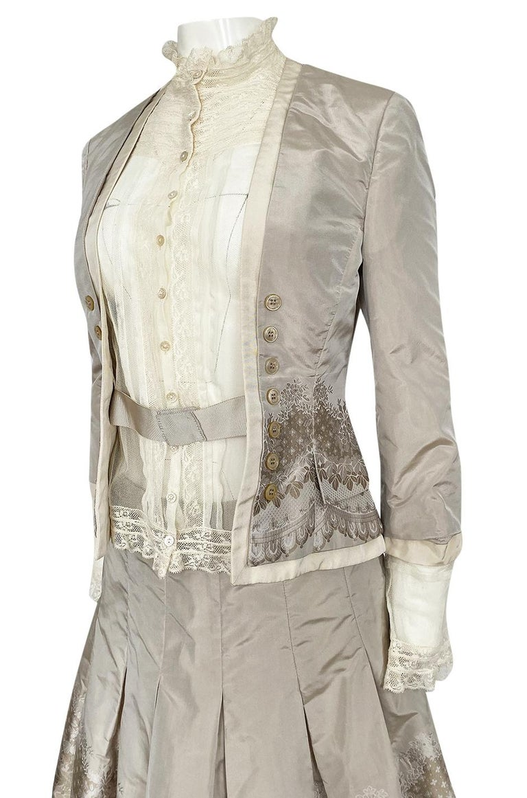 Spring 2005 Alexander McQueen 'It's Only a Game' Runway Skirt & Jacket Set For Sale 3