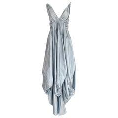 Spring 2007 John Galliano for Christian Dior Pale Blue Silk Voluminous Dress