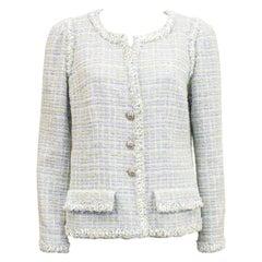 Spring 2009 Chanel Grey Bouclé Tweed Jacket