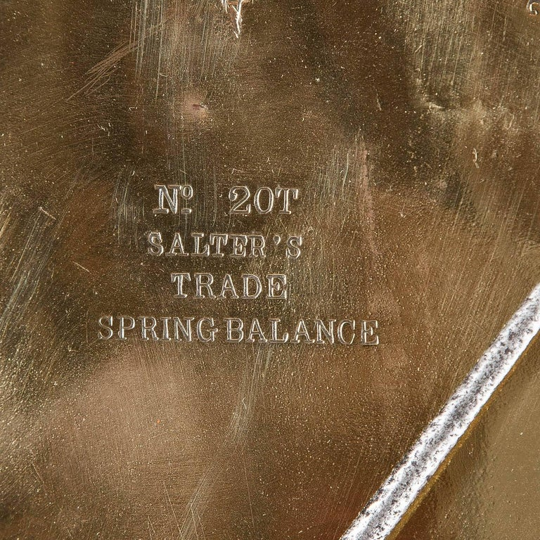Brass Spring Balance by Salter & Co Ltd, Dated 1918 For Sale