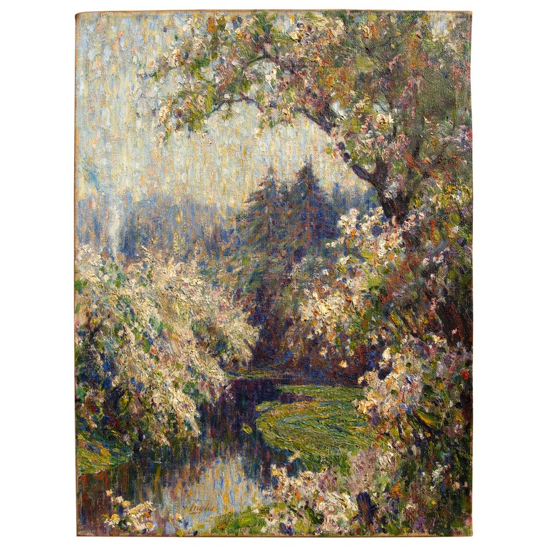 """Spring Blossoms"" Oil Painting by John Inglis For Sale"