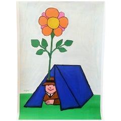 Spring Fair Poster by Savignac Original Vintage Poster