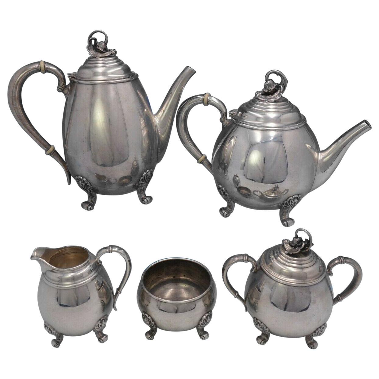Spring Glory by International #C360 5 Piece Sterling Silver Tea Set