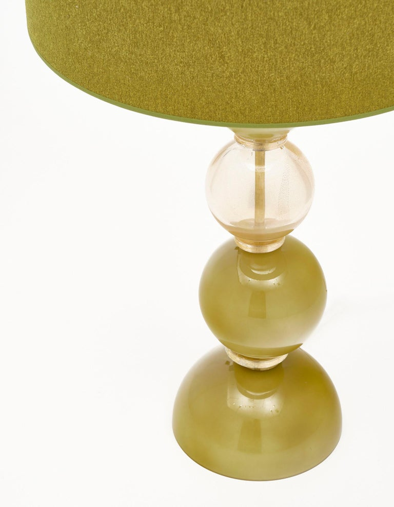 Spring Green Murano Glass Lamps For Sale 1