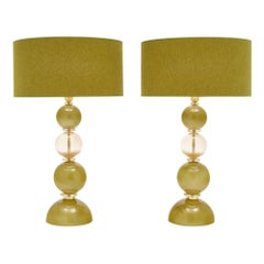 Spring Green Murano Glass Lamps