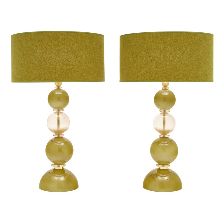 Spring Green Murano Glass Lamps For Sale