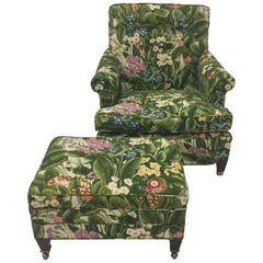 Spring is in the Air Upholstered Club Chair and Ottoman Set