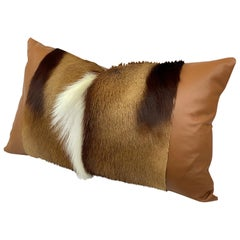 Springbok Pillow Lumbar Cushion with Leather