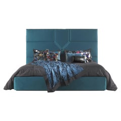 Springs Bed in Fabric with Nickel Frame by Roberto Cavalli