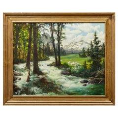 """Springtime"" Original Oil by R.B. McGrew"