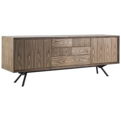 Sprint Walnut Sideboard with Solid Walnut Wood