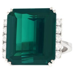Spritzer and Fuhrmann Tourmaline and Diamond-Set Gold Ring