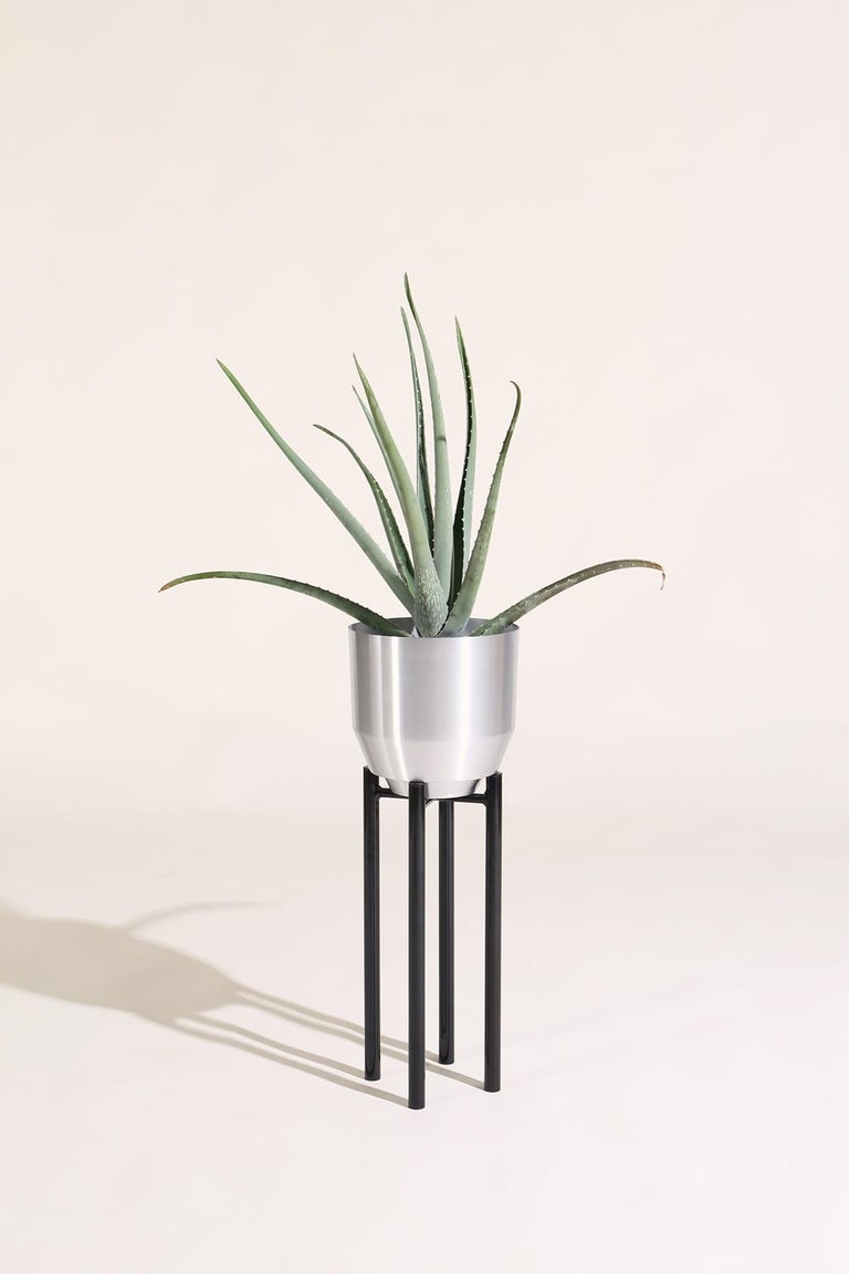 Modern Spun Planter, Aluminium For Sale