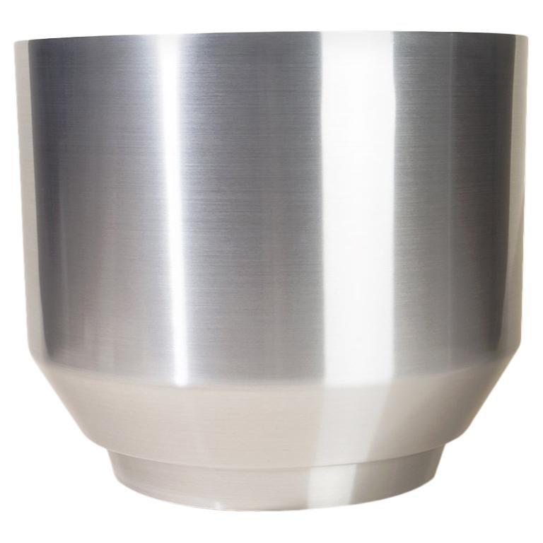 Spun Planter, Aluminum For Sale