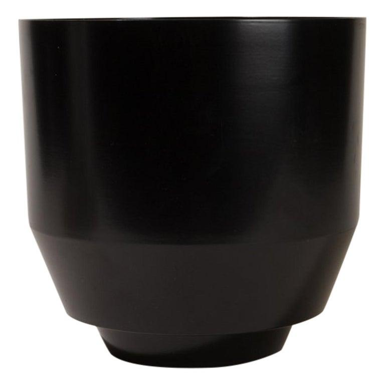 Spun Planter, Black For Sale