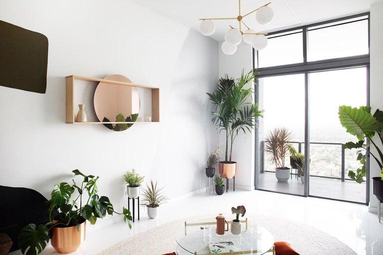 Contemporary Spun Planter, Pale Gray For Sale