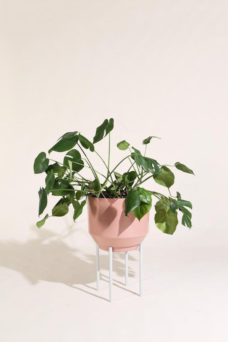 Modern Spun Planter, Peach For Sale