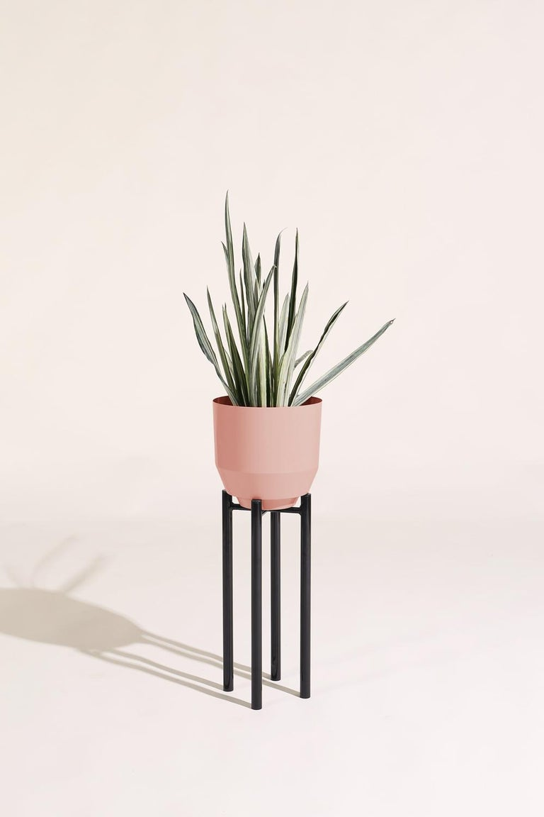 Powder-Coated Spun Planter, Peach For Sale