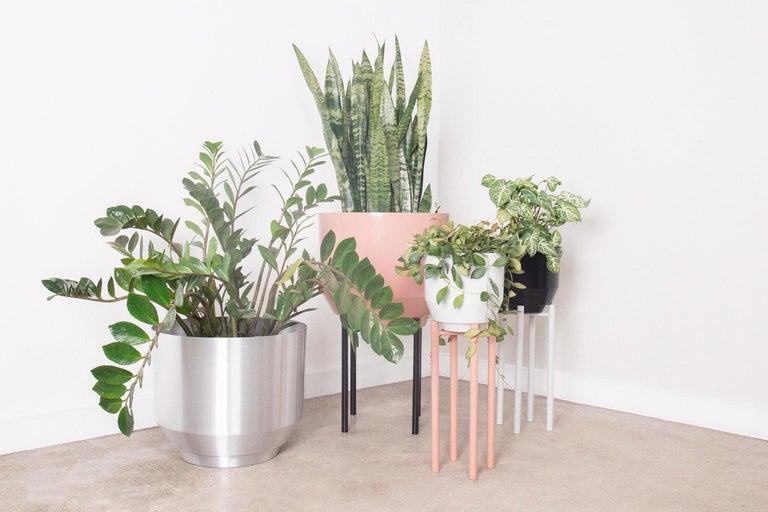 Contemporary Spun Planter, Peach For Sale