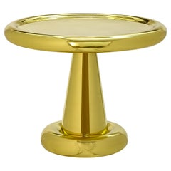 Spun Short Table in Brass by Tom Dixon