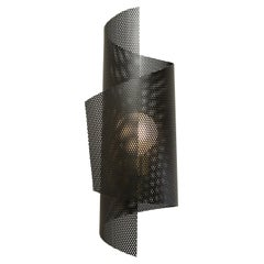 Spun Tulle Wall Sconce in Brass and Black Enamel Mesh by Blueprint Lighting 2019