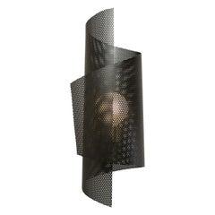 Spun Tulle Wall Sconce in Brass + Black Enamel Mesh by Blueprint Lighting, 2019