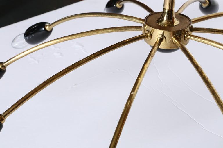 Sputnik Brass Chandelier For Sale 7